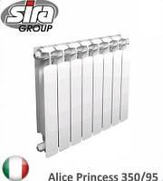 Радиатор алюминиевый SIRA Alice Princess 350/95. Италия.