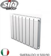 Радиатор алюминиевый SIRA SMERALDO H.500/90. Италия.