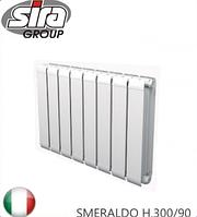 Радиатор алюминиевый SIRA SMERALDO H.300/90. Италия.