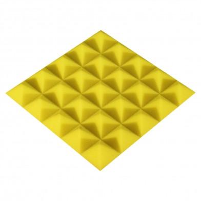 Панель из акустического поролона Ecosound Pyramid Color 25 мм, 25x25 см, желтая
