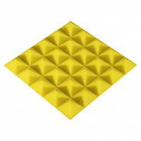 Панель з акустичного поролону Ecosound Pyramid Color 25 мм, 25x25 см, жовта