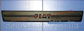 Зимняя заглушка на решетку радиатора на Fiat Doblo 2005+ средняя мат