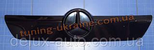 Зимняя заглушка на решетку радиатора на Mercedes Sprinter 2002-2006  верх глянец
