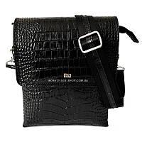 Мужская сумка через плечо кожаная Desisan 1463-11 мессенджер с тиснением черный