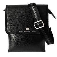 Мужская сумка через плечо кожаная Desisan 1463-01 мессенджер черный