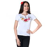Женская вышитая футболка. Калинове диво, фото 1