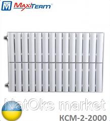 Стальной секционный радиатор MaxiTerm КСМ-2-2000 (боковое подключение, 2944 Вт). Украина.