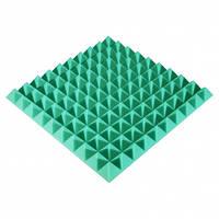 Панель из акустического поролона Ecosound Pyramid Color 50 мм, 50x50 см, зеленая