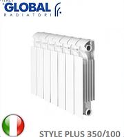 Радиатор биметаллический GLOBAL STYLE PLUS 350/100. Италия.