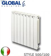 Радиатор биметаллический GLOBAL STYLE 500/80. Италия.