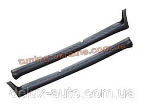 Черные пороги боковые оригинал для Hyundai Veracruz (IX55) 2006-12