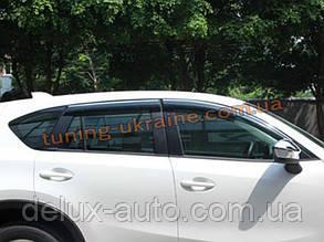 Ветровики с хром кантиком на Mazda CX5 (-CX5-V21)