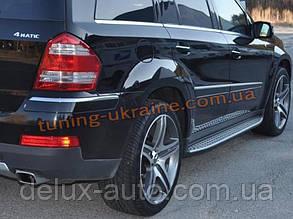 Боковые пороги оригинал в OEM стиле на Mercedes-Benz GL 2009-12