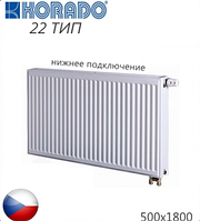 Стальной радиатор KORADO 22-VK 500x1800 (Мощность 3290 Вт). Чехия.