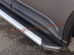 Стильные боковые пороги оригинал на  Nissan X-Trail 2007-10