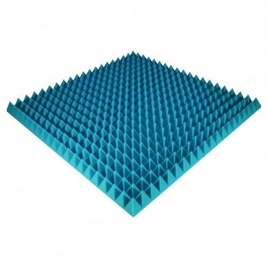 Панель из акустического поролона Ecosound Pyramid Color 70 мм, 100x100 см, синяя
