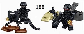 Фигурки swat спецназ военные солдаты Лего lego BrickArms бандиты