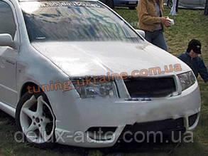 Передній бампер зі склопластику для Skoda Fabia 2002-08