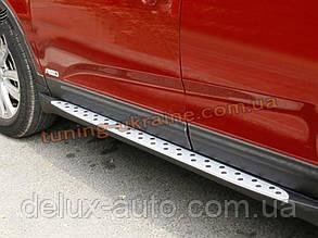 Пороги боковые оригинал в BMW Style для Subaru Outback 2009-13