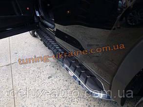 Пороги боковые оригинал в Extreme style для Toyota Highlander 2014+