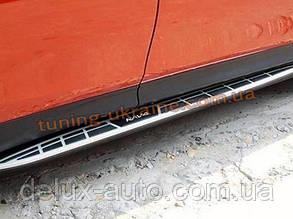 Пороги боковые оригинал на Toyota RAV 4 2013+