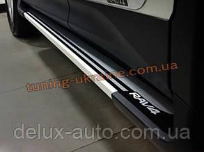 Пороги боковые оригинальные для Toyota RAV 4 2013+
