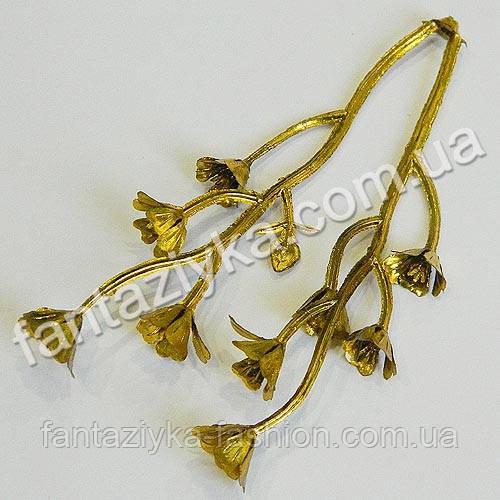 Веточка декоративная кислица золотая 9см