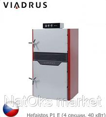 Твердотопливный пиролизный котел VIADRUS Hefaistos P1 Е (4 секции, 40 кВт). Чехия.