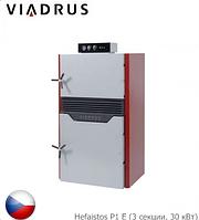 Твердотопливный пиролизный котел VIADRUS Hefaistos P1 Е (3 секции, 30 кВт). Чехия.