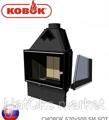 Каминная топка KOBOK CHOPOK 670х500 SM SOT (мощность 10 кВт). Словакия.