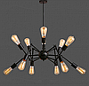 Люстра-паук лофт 761ZD012-12 BK, 12 ламп, черный металл