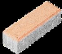 "Тротуарная плитка ""Кирпич""  Стандарт УМБР синяя на белом цементе 40мм"