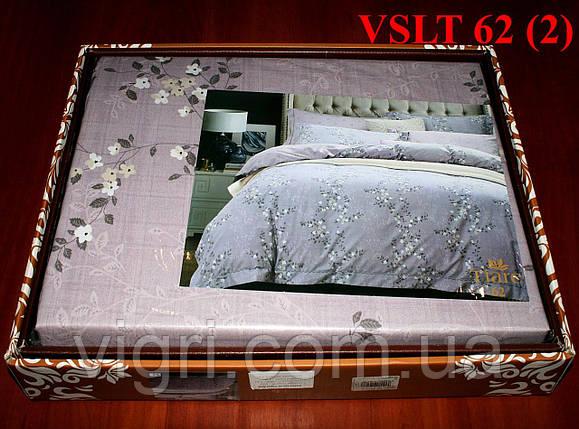 Постельное белье евро, сатин люкс Tiare Вилюта. VSLT Т62, фото 2
