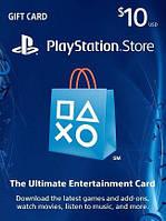 Подарочная карта Playstation Network пополнение бумажника на сумму 10 usd, US-регион