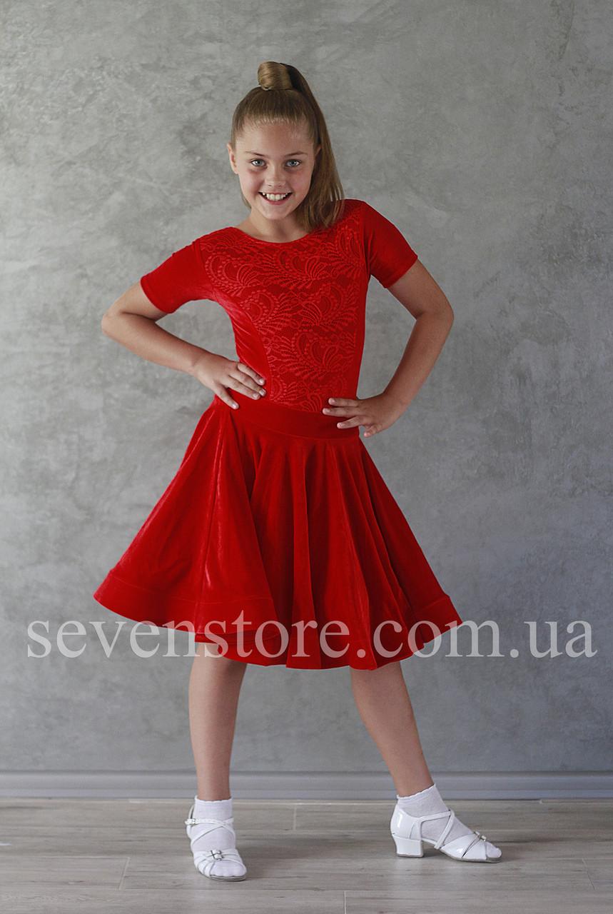 Рейтингове плаття Бейсік для бальних танців Sevenstore 9139 Червоне