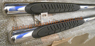 Пороги боковые трубы на Kia Sportage