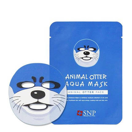 Увлажняющая маска SNP Animal Otter Aqua Mask  , фото 2