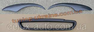 Решетка радиатора и реснички фар для Daewoo Sens Седан