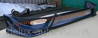 Накладка на передний бампер на Chevrolet Lanos Седан