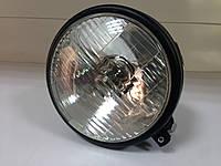 Фара передняя металлическая с лампочкой Н4, фото 1