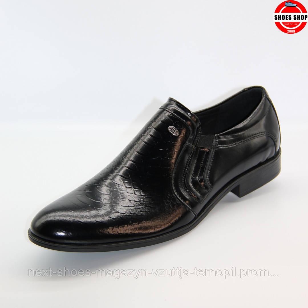 Чоловічі туфлі TAPI (Польща) чорного кольору. Ідеально підходять під класичний костюм. Стиль: Джеймс Бонд