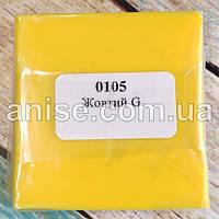 Полимерная глина Пластишка, №0105 желтый G, 75 г / Полімерна глина Пластішка, №0105 жовтий G, 75 г