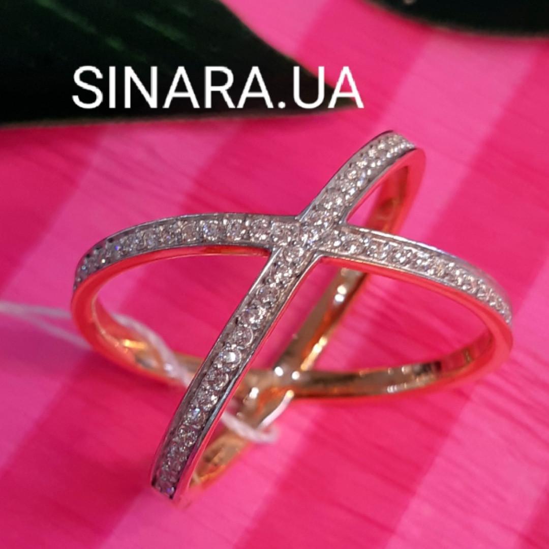Серебряное кольцо с позолотой - Серебряное кольцо в стиле минимализм - Кольцо на фалангу серебро