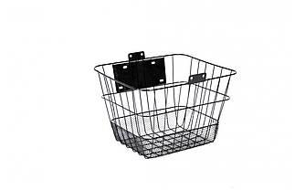 Кошик велосипедна JL-CK095 на кермо / багажна / швидкознімна, чорна під будь-який діаметр колеса