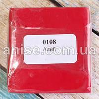 Полимерная глина Пластишка, №0108 красный алый, 75 г / Полімерна глина Пластішка, №0108 червоний, 75 г