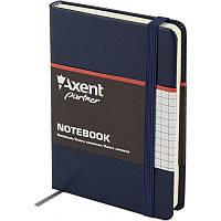 Книга записная Axent Partner 8301-02-A, А6, 96 листов, клетка, синяя, фото 1