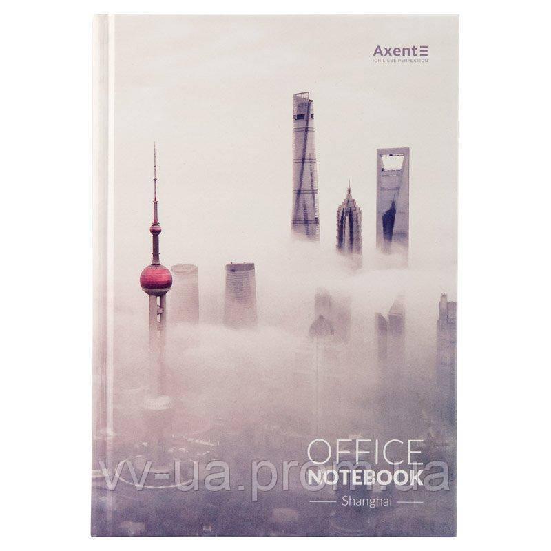 Книга записная Axent Shanghai 8423-24-A в твердой обложке, А4, 192 листа, клетка