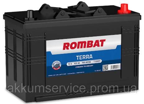 Аккумулятор автомобильный ROMBAT TERRA 105AH R+ 700A (T105)