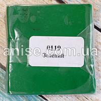 Полимерная глина Пластишка, №0119 зеленый, 75 г / Полімерна глина Пластішка, №0119 зелений, 75 г