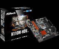 Материнская плата H110M-HDV R3.0 (1151/H110, 2*DDR4, 1xPCIe x16, 4xSATAIII, VGA/DVI-D/HDMI, GLan, 8ch, mATX)